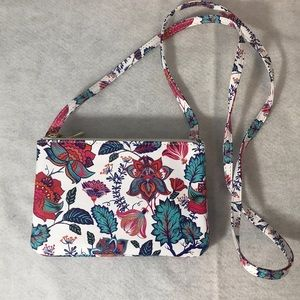 Handbags - Flowered cross body bag purse